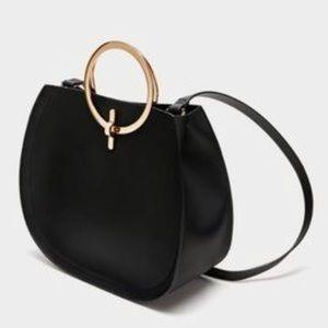 Zara circle handle tote